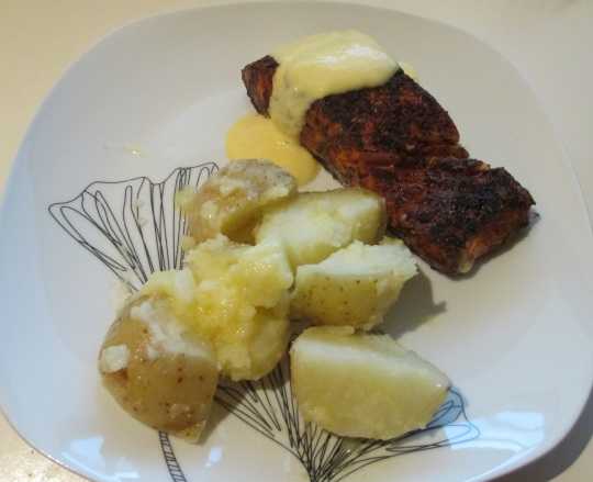Cajun Salmon with Smashed Potatoes