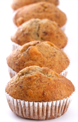 Muffins, which look similar to mine but probably taste better and are much better photographed, by freedigitalphotos.net